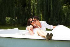 Free Young Attractive Couple On Boat Royalty Free Stock Image - 10362916