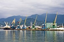 Free Shipyard In Batumi Royalty Free Stock Image - 10363136