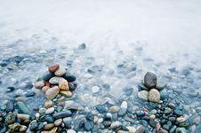 Free Black Sea Stones Exposured Long Stock Photo - 10363250