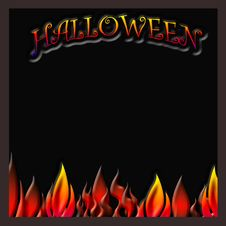 Free Halloween Flaming Poster Stock Images - 10363364