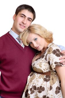 Free Happy Couple, Pregnant Wife Stock Images - 10380654