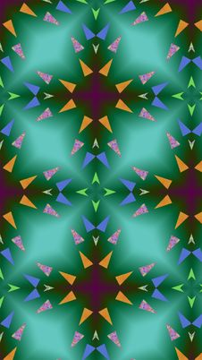 A World Of Triangles. Cool Mobile Wallpaper And Lock Screen Royalty Free Stock Photography