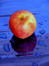 Free Apple With Drops Of Water Stock Image - 1046171