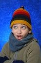Free Boy Having Fun In Winter Royalty Free Stock Image - 1048136