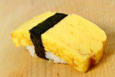 Free Omelet (Tamago)  Sushi Royalty Free Stock Image - 1040786