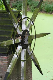 Monumental Dutch WaterMill Stock Photo