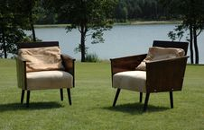 Free Two Arm-chairs Stock Photo - 1040850