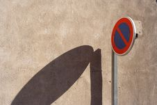 Free Road Sign Shadow Stock Photos - 1041393
