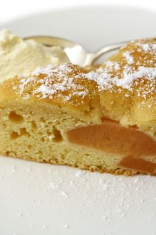 Quince Batter Cake: Macro Tall View Stock Images