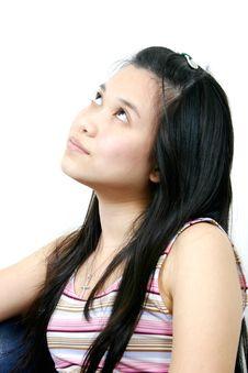 Natural Young Asian Girl 18 Royalty Free Stock Image