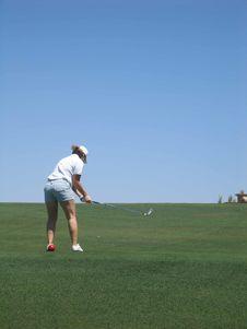 Free Golfing Lady Stock Image - 1042181