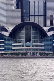Free Hong Kong Convention And Exhibition Centre Royalty Free Stock Photos - 1045708