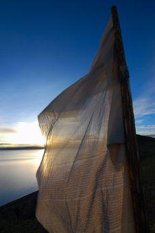 Sunrise Over Namtso Lake Royalty Free Stock Photos