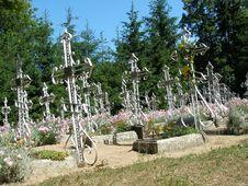 Crosses In Churchyard Stock Image