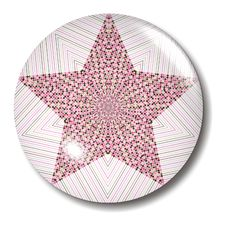 Free Pink Brown Star Button Orb Royalty Free Stock Photos - 1046678