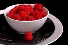 Free Bowl Of Raspberries Royalty Free Stock Images - 1046939