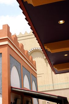 Moroccan-style Buildings From Busch Gardens Royalty Free Stock Images