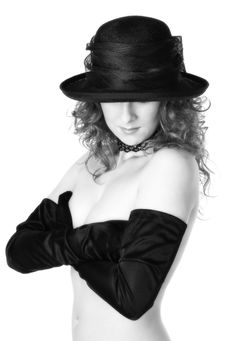 Free Lady In Hat Royalty Free Stock Photography - 1047407