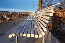 Free White Benches Royalty Free Stock Photos - 1047558