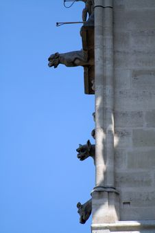 Free Gargoyle Alignment Royalty Free Stock Image - 1047646