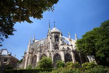 Free Notre Dame Back Royalty Free Stock Photography - 1047887