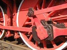 Old Locomotive Wheels Stock Image
