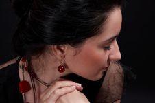 Free Sexy Brunette Posing Stock Image - 1049041