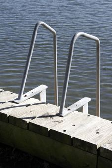 Free Ladder For Water Access Stock Photography - 1049142