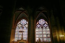 Free Two Cathedral Windows Stock Images - 1049344