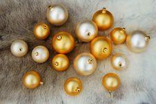 Free Christmas Balls On Reindeer Fur Coat Stock Photo - 1049990