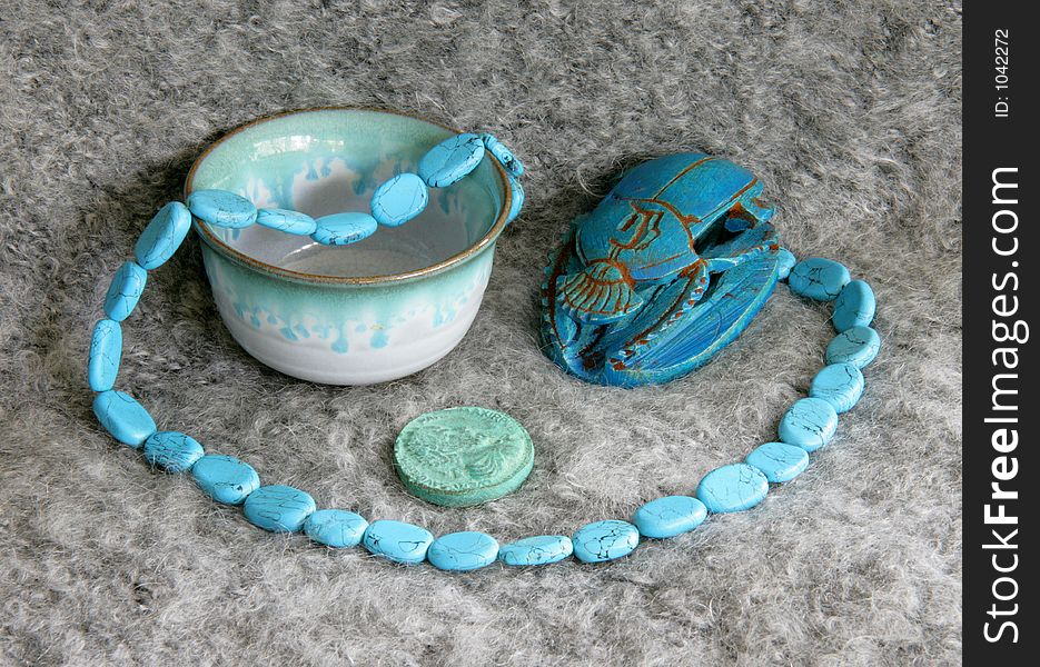 Still life with scarab 1