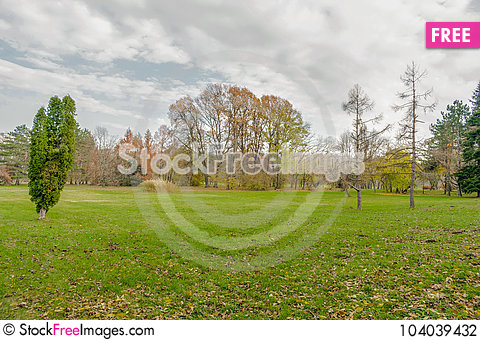 Free End Of The Golden Autumn Stock Photography - 104039432