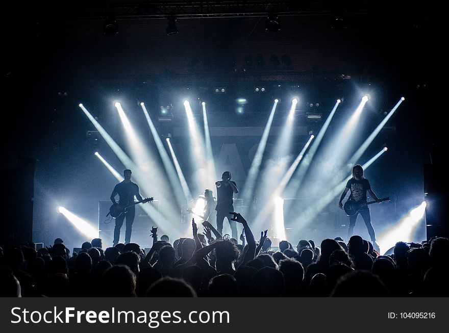 Audience, Band, Concert, Crowd