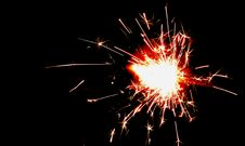 Free Fire Cracker Spark In Night Time Photography Royalty Free Stock Images - 104366669
