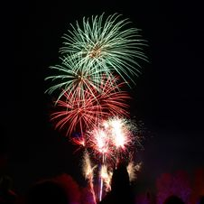 Free Photography Of Green And Red Fire Works Display Stock Photo - 104366840