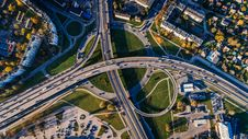 Free Aerial Photo Of Buildings And Roads Royalty Free Stock Photography - 104450057