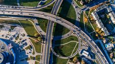 Free Aerial Photography Of Concrete Bridge Royalty Free Stock Image - 104450116