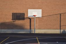 Free Basketball Hoop On Court Stock Photo - 104450140