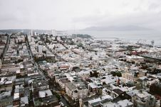 Free Aerial View Of City Under Cloudy Sky Royalty Free Stock Images - 104450149