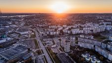 Free Aerial Photo Of High Rise Building During Sunrise Royalty Free Stock Photography - 104450157