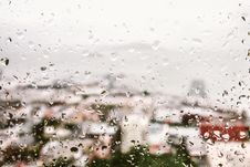 Free Rain Drops On Window Stock Photo - 104450170