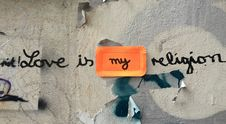 Free Love Is My Religion Stock Photos - 104569903