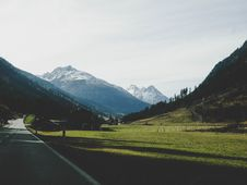 Free Landscape Photography Of Mountains Near Road Stock Photo - 104570010