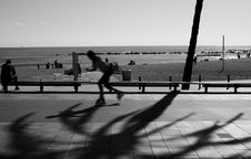 Free Person Skating On Road In Grayscale Photography Royalty Free Stock Photography - 104570137