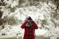 Free Camera, Cold, Fashion, Female Stock Photography - 104712602