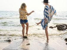 Free Women On Seashore Stock Image - 104887031
