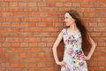 Free Girl Near The Brick Wall Stock Images - 10497804