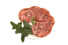 Free Salami Sliced Royalty Free Stock Photography - 10495967