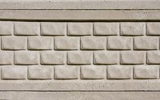 Concrete Textured Tiled Brick Wall Royalty Free Stock Photo