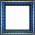 Free Box Frame Gold Grid Stock Photography - 1056082